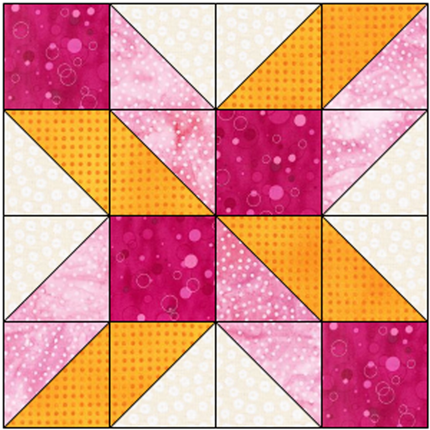12 inch free quilt block pattern with squares and triangles
