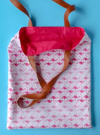 Easy lined tote bag free sewing pattern