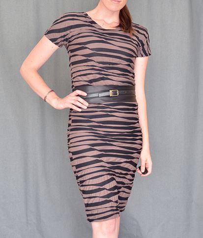 Womens easy short sleeve sheath dress sewing pattern