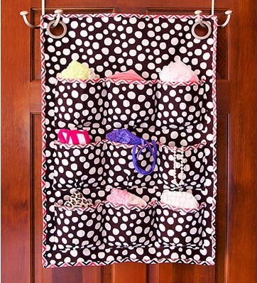 Fabric door caddy with pockets free sewing pattern