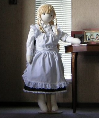 Girl fabric fashion doll free sewing pattern