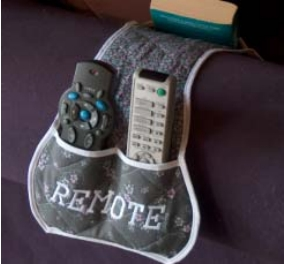 Amrchair remote control caddy free sewing pattern