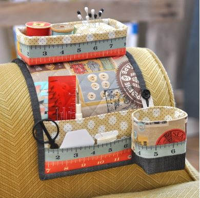 Sewing organizer caddy for armchair free pattern