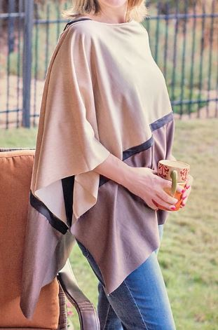 Poncho with uneven hem free sewing pattern