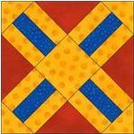 Cross free quilt block pattern
