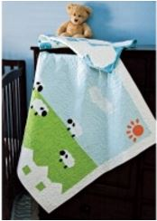 Baby quilt with sheep lamb motifs free pattern