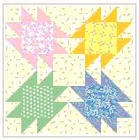 Four patch free quilt block for baby
