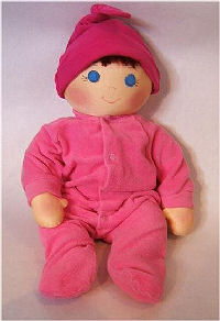 Baby fabric doll free sewing pattern