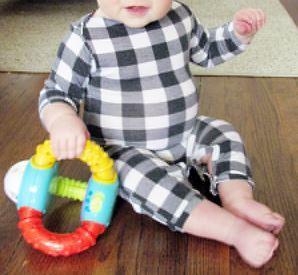 Baby boy romper free sewing pattern