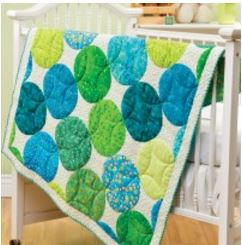 Baby quilt with circle patch desgin free pattern