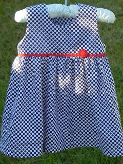 Sleeveless baby dress free sewing pattern