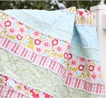 Baby rag strip quilt free pattern