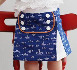 Toddler sailor skirt using fat quarters free sewing pattern