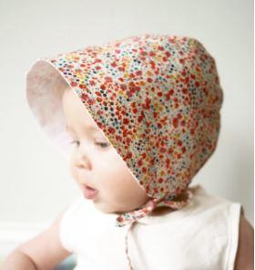 Baby sun bonnet free sewing pattern