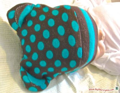 Woodland winter cap for baby free sewing tutorial