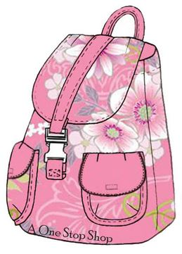 Fabric backpack with pockets and handle free sewing pattern