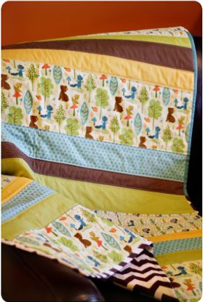 Easy basic baby quilt free pattern