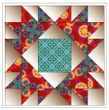 Bear claws free quilt block pattern