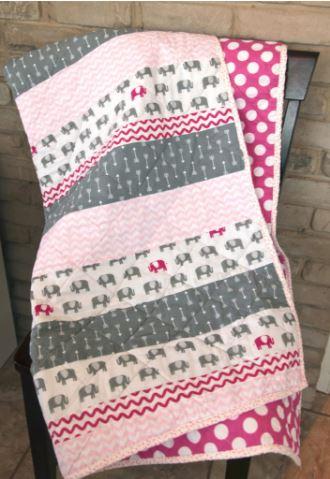 Easy beginner strip baby quilt free pattern