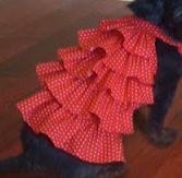 Dog ruffled dress sewing pattern