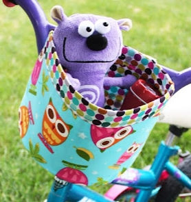 Fabric storage bucket for bicycle free sewing pattern