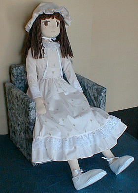 Tall girl fabric doll free sewing pattern