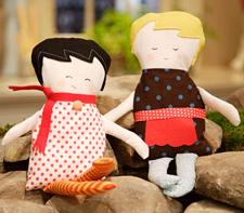 Fabric dolls free sewing pattern