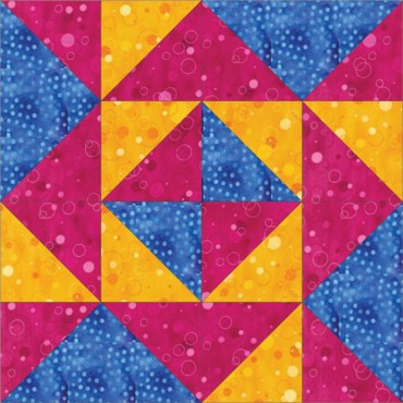 Triangle free quilt block pattern 6 inch
