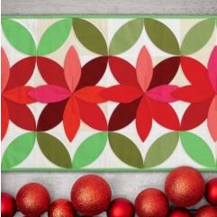 Holiday quilted flower table runner free pattern