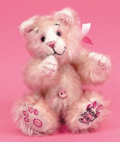 Jointed teddy bear from mohair free sewing pattern