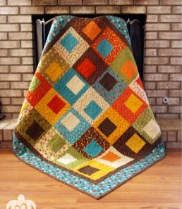 Modern quilt with squares free pattern