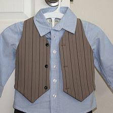 Boys vest sewing pattern