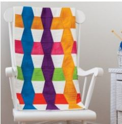 Striped baby quilt free pattern