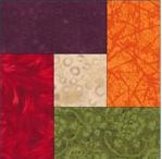 Free quilt block pattern with squares and rectangles