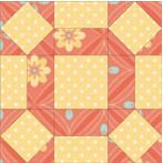 Free quilt block pattern with squares and triangles