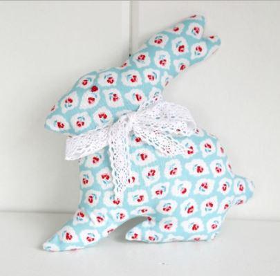 Simple easy bunny rabbit stuffed animal free sewing pattern