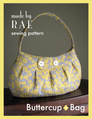 Slouch bag with pleats free sewing pattern