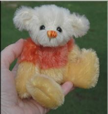 Small mini jointed teddy bear free sewing pattern