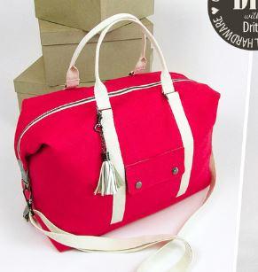 Canvas duffle weekender bag free sewing pattern
