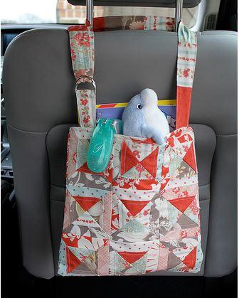 Fabric car organizer free sewing pattern