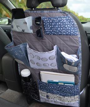 Large car sear organizer free sewing pattern