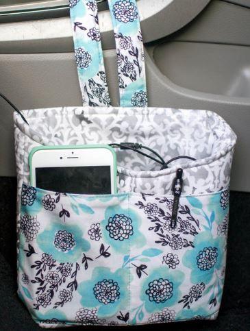 Small car fabric organizer free sewing pattern