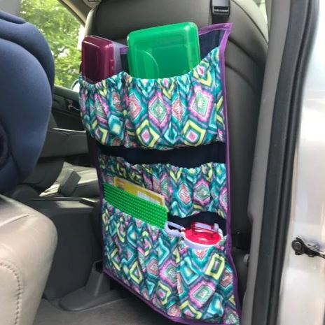 Car seat organizer with deep pockets free sewing pattern