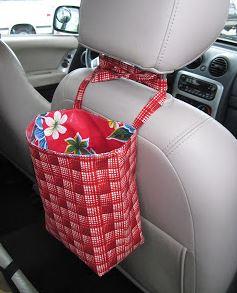 Car seat trash holder free sewing pattern
