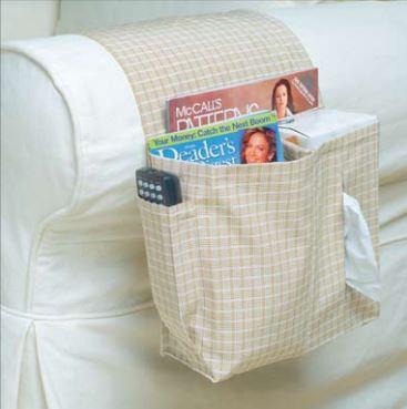 Armchair organizer free sewing pattern