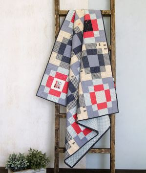 Baby quilt with checkered design free pattern