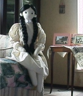 Scullery mail girl fabric doll free sewing pattern