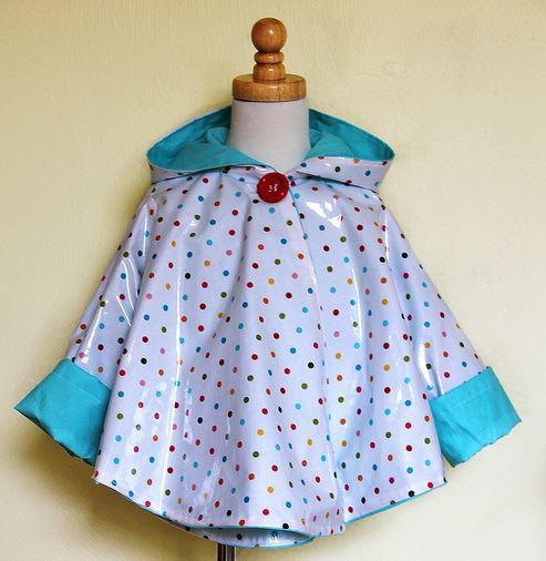 Girls rain poncho sewing pattern