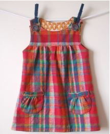 Toddler sleeveless jumper dress free sewing pattern