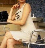 Womens sleeveless dress with ruffle front sewing pattern